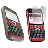 GreyMobiles Smoke Black GEL Skin Case For Nokia E63 WITH SCREEN PROTECTORby greymobiles