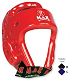M.A.R International Ltd Dipped Foam Kickboxing Head Guard Boxing Thai Boxing Mma Muay Thai Taekwondo Karate Judo Training Red Medium
