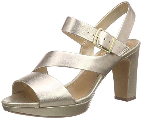 ClarksJenness Soothe - Scarpe con Cinturino alla Caviglia donna, Giallo (Yellow (gold Leather)), 38