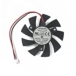 TOMUM T128015SH 75MM Brushless Cooling Fan 40mmx40mmx40mm 2Pin for N240 N250 GTS240 250 GTS450 Graphicss Card Fan Cooler