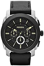 Fossil FS4731 Machine Leather Watch Black