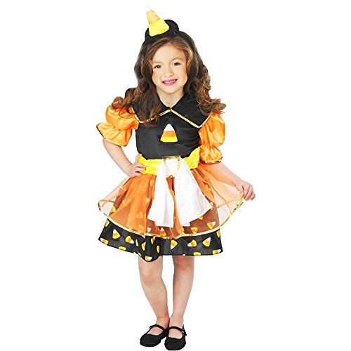 Lil Candy Corn Witch Girl Kids Costume