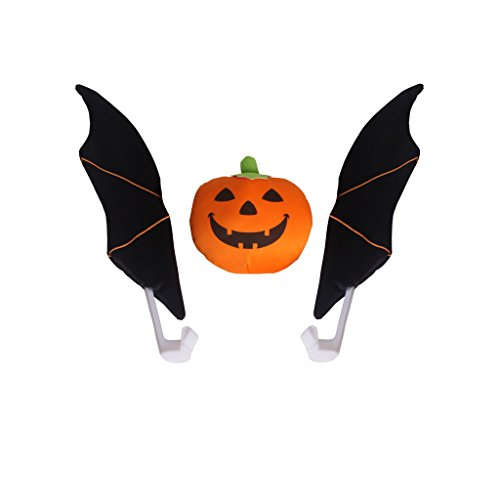 car flags halloween with black bat and pumpkin vehicle costume for car