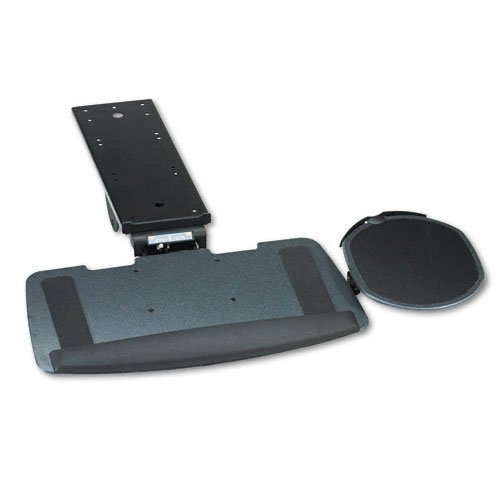 HON 840000, Articulating Keyboard Platform with Mouse Pad, 21 in.x10-1/2 in., Black