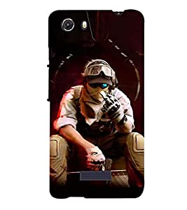 PRINTSWAG SHOOTER MAN Designer Back Cover Case for MICROMAX Q372 UNITE 3