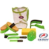 Derby Originals Deluxe 9 Item Horse Grooming Kit Lime Green