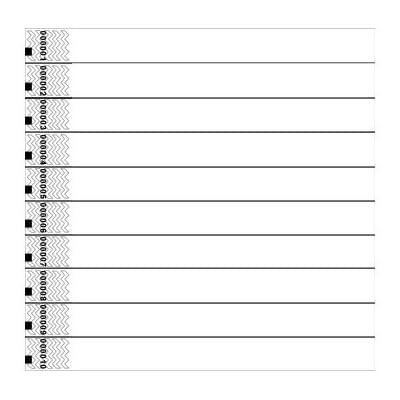White Tyvek Wristbands - Pack of 100