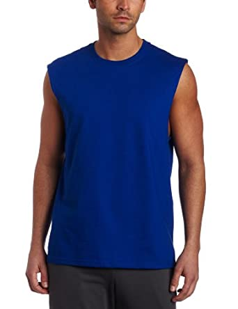 Russell athletic men 39 s cotton muscle shirt for Dress shirts for athletic guys