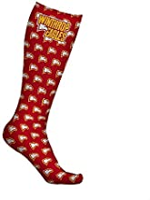 Winthrop University Eagles Socks Wallpaper Red Design pair