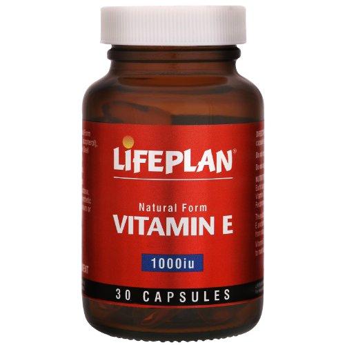 Lifeplan 1000 iu Vitamin E 30 Capsules