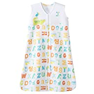 HALO SleepSack 100% Cotton Wearable Blanket, Yellow Alphabet Pals, Large