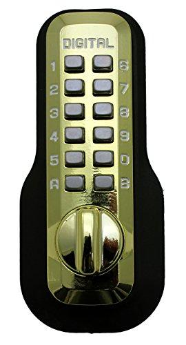Digital Door Lock M210 Mechanical Keyless Deadbolt, Bright Brass