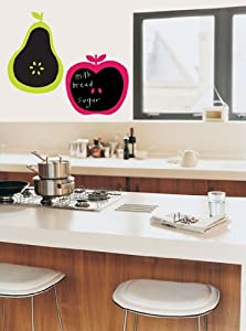 Chalkboard Apple and Pear Decal Stickers