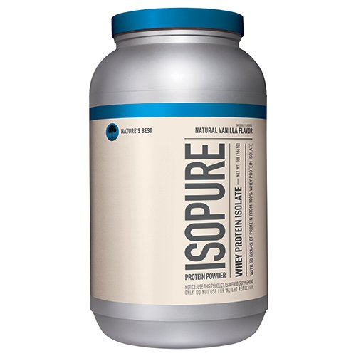 Nature's Best Isopure Protein Powder, Natural Vanilla, 3 Pounds (All Natural Protein Powder compare prices)