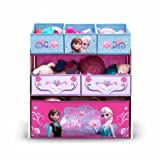 Disney Frozen Multi-Bin Toy Organizer This Frozen-themed piece features the favorite princesses Elsa and Anna from the movie.