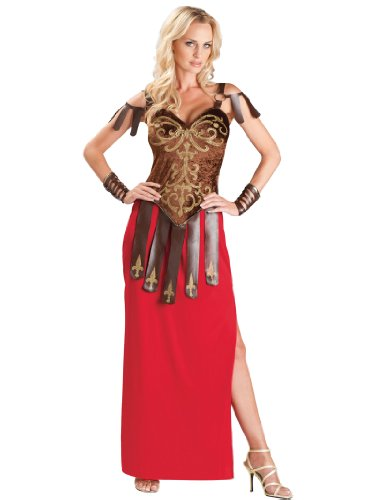 Sexy Gladiator Costume Dress and Armor Warrior Womens Theatrical Costume