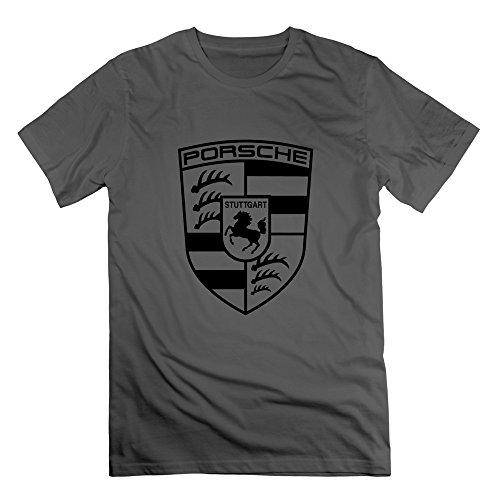 WYY Men's Porsche AG Stuttgart Logo T Shirt X-Large DeepHeather