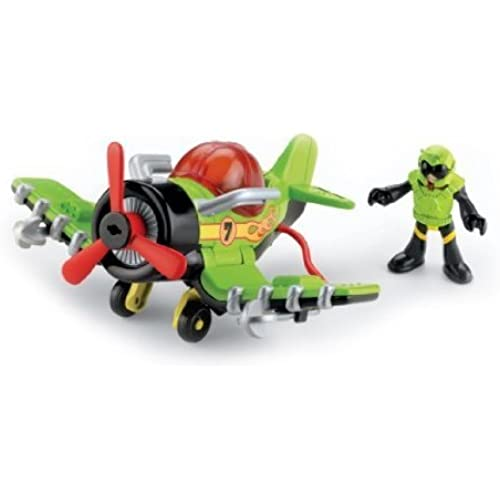 Dragon Fly Racer Is A Cool Black And Green Plane - Fisher-Price (휘셔 프라이스) Imaginext Sky Racers Sea Stinger 피규어 장난감 인형 (병행수입)-
