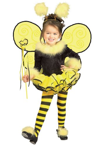 Bumblebee Bee Ballerina Child Costume Size 2-4 Toddler