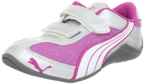 PUMA Millennius Sparkle V Sneaker (Toddler/Little Kid/Big Kid),Rose Violet/Puma Silver/White,8 M US Toddler
