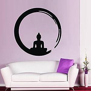Bouddha avec les Stickers muraux cercle peach: Cuisine
