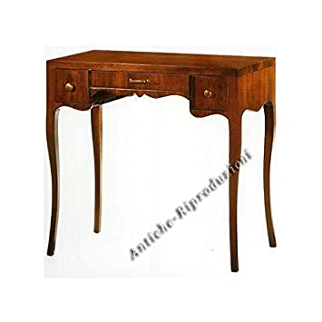 Scrittoio legno colore noce cm 80x44, h 78 TABLE CONSOLLE WOOD MADE IN ITALY - Come foto