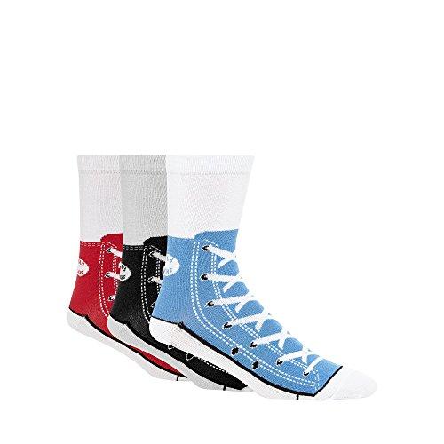 debenhams-pack-of-three-assorted-shoe-print-silly-sneaker-socks