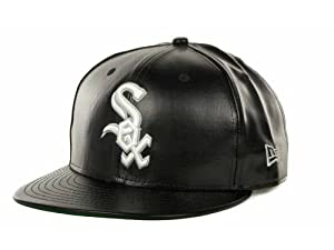 Chicago White Sox New Era MLB Fauxe Leather 9FIFTY Snapback Cap (Small Medium) by New Era