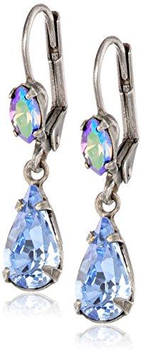 """Sorrelli  """"Ice Blue"""" Classic Teardrop French Wire Earrings"""