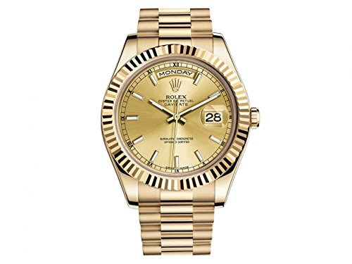 NEW Rolex Day Date II President 18K Yellow Gold Mens watch 218238 CHIP men s 18k yellow gold rolex inspired 8 5mm comfort fit wedding band