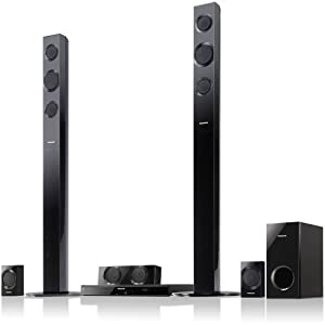 Panasonic SC-BTT195 Energy Star 5.1-Channel 1000-Watt Full HD 3D Blu-Ray Home Theater System with Tall Boy Speakers