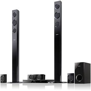 Panasonic SC-BTT195 Energy Star 5.1-Channel 1000-Watt Full HD 3D Blu-Ray Home Theater System with Tall Boy Speakers (2012 Model)