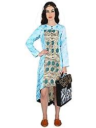 Linen Hand Painted Kalamkari And Shibori Dress