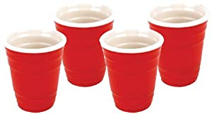 Big Mouth Toys Red Cup Shots, Set of 4