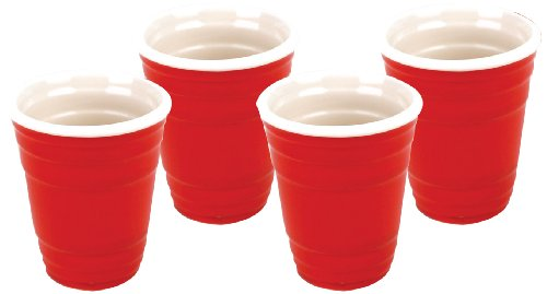 BigMouth Inc Red Cup Shots (Set of 4)
