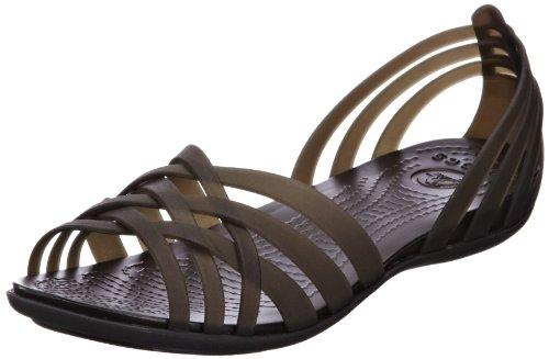crocs Women's Huarache Flat,Black/Black,7 M US