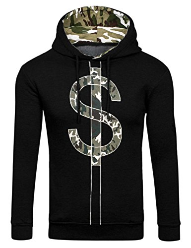 thinkmax-heavy-blend-men-hooded-sweatshirt-hoodie-black-l