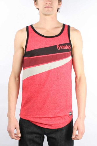 Fyasko - Mens Smock Tank Top in Red, Size: X-Large, Color: Red