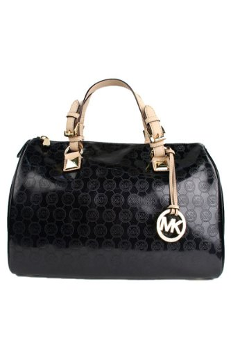 Michael Kors Grayson Large Satchel With MK Logo