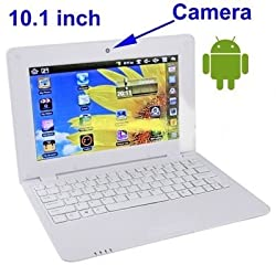 WolVol NEW (Android 4.0 - 1GB RAM) SOLID WHITE 10inch Laptop Notebook Netbook PC, WiFi and Camera with Flash Player (Includes Mini PC Mouse)