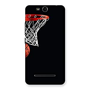Cute Basket Ball Multicolor Back Case Cover for Micromax Canvas Juice 3 Q392