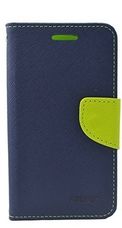 Kabir Mercury Diary Wallet Flip Cover Case for Micromax Canvas Knight 2 E471 - Navy Blue and Green