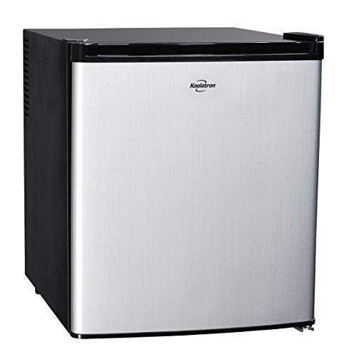 Koolatron KCR40B AC/DC Hybrid Heat Pipe Refrigerator, 1.7 cu. ft., Silver (12volt Dc Refrigerator compare prices)
