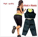Shopo's Hot Shapers Sport Slimming Body Suit Burn Fat 2 Pieces Hot Set For Women(M Size)