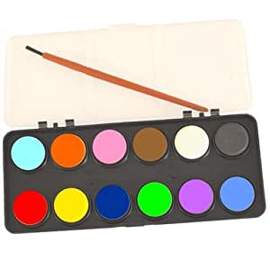 Kids watercolour paint set 12 colours with brush art for Arts and crafts sets for kids