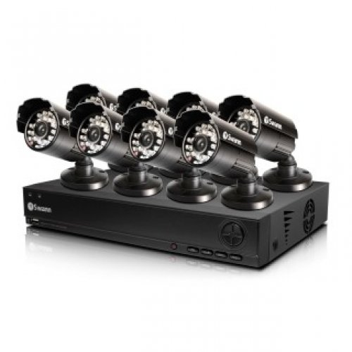Swann Dvr8-1000 8 Channel D1 Digital Video Recorder & 8 X Pro-530 Cameras / Swdvk-810008-Us /