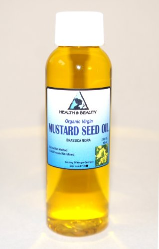 Mustard Oil Unrefined Organic Carrier Cold Pressed Pure 2 Oz front-539966