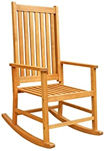 Luunguyen - Franklin Outdoor Hardwood Rocking Chair Adult Size Natural Wood Finish from LuuNguyen