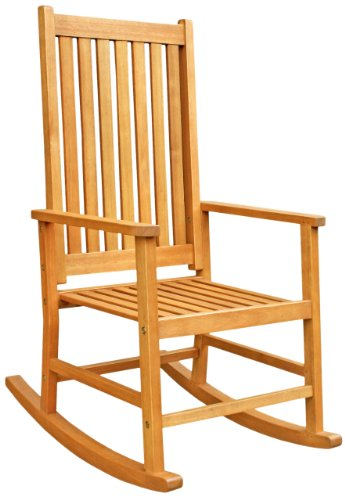 Charmant LuuNguyen   Franklin Outdoor Hardwood Rocking Chair (Adult Size, Natural  Wood Finish)