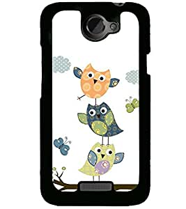 printtech Colorful Birds Back Case Cover for HTC One X , HTC One XT , HTC 1X